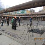 08.11.2017 - Выполнена бетонная подготовка под фундаментную плиту. Армирование ростверка.