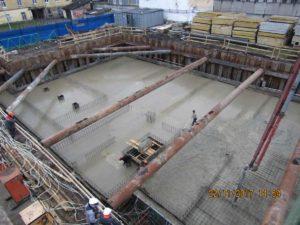 22.11.2017 - Заливка бетона фундаментной плиты