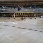 Заливка бетонной плиты второй секции