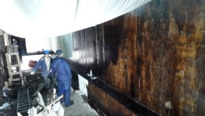 13.01.2018 - Гидроизоляция стен паркинга 1-й секции