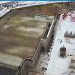 Залита плита перекрытия над паркингом 2-й секции