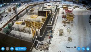 Изготовление каркасов и установка опалубки стен технического этажа 2-й секции.