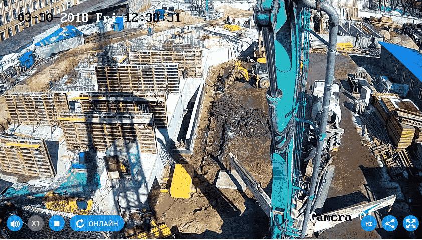 01.04.2018 - Заливка стен 1-го этажа 2-й секции