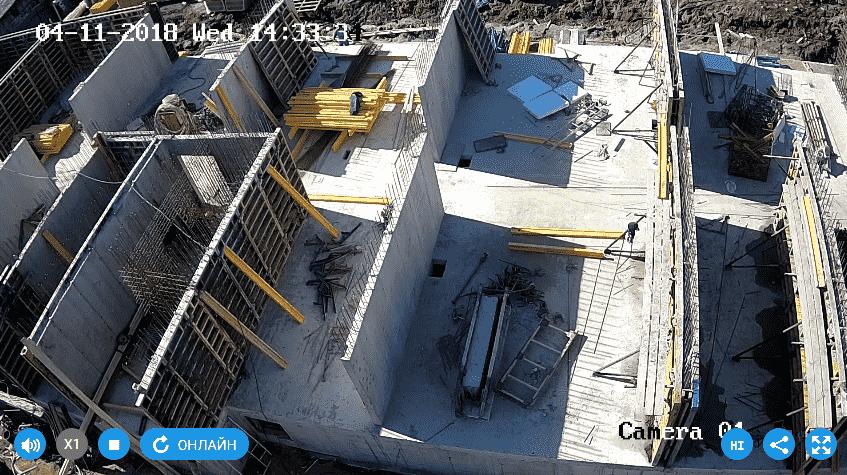 11.04.2018 - Заливка стен 1-го этажа 1-й секции