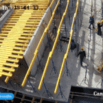 Установка опалубки перекрытия над 2-м этажом 1-й секции