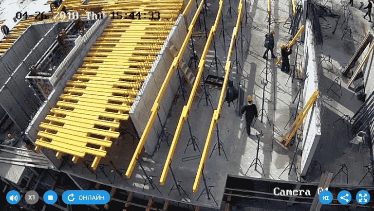 26.04.2018 - Установка опалубки перекрытия над 2-м этажом 1-й секции