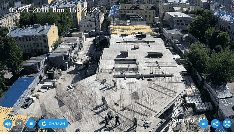21.05.2018 - Залита плита перекрытия над 4-м этажом 2-й секции