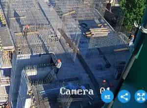 Залита плита перекрытия над 4-м этажом 3-й секции, армирование стен 5-го этажа 3-й секции.