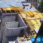 Установка опалубки перекрытия над 5-м этажом 3-й секции.