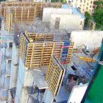 Бетонирование стен 7-го этажа 3-й секции