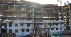 Кладка ограждающих конструкций 1-3-й секции