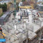 Армирование и заливка бетона стен 6-го этажа 2-й секции.