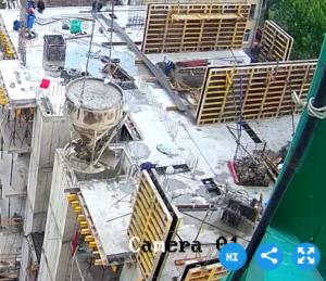 Армирование и заливка бетона стен 6-го этажа 3-й секции.
