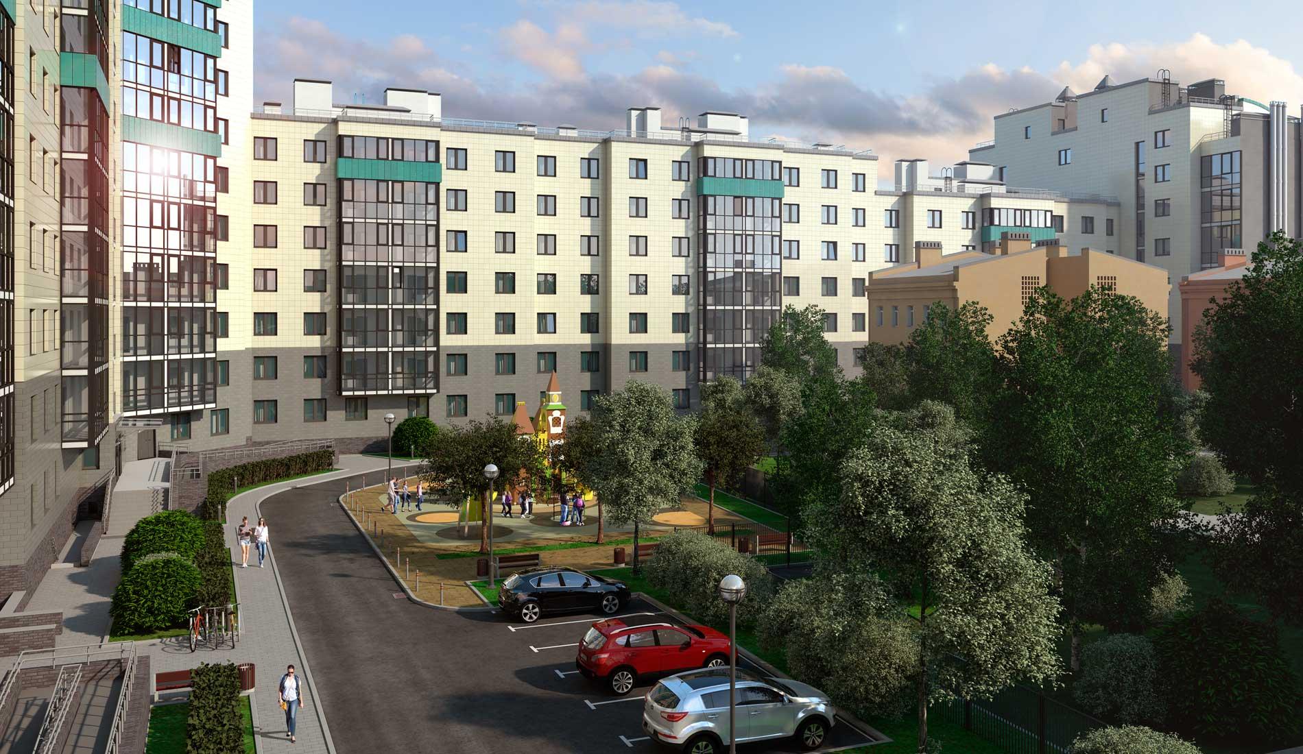 ЖК Днепропетровская 37 — Квартиры в современном жилом комплексе в центре Петербурга