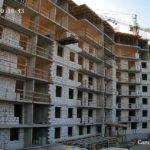 Продолжается кладка ограждающих конструкций 1-3 секций