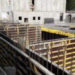 Армирование стен паркинга 5 и 6 секций, установка опалубки перекрытия над паркингом 4-й секции