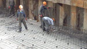 Армирование плиты ростверка 6-й секции.