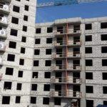 Завершены работы по устройству наружных стен из газобетона 1-3 секций.