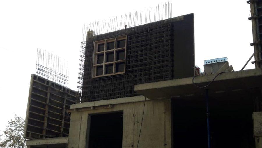 14.10.2018 - Заливка бетоном стен 2-го этажа 5-й секции