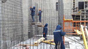 Армирование стен 2-го этажа 6-й секции
