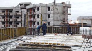Залита плита перекрытия 7-го этажа 5-й секции
