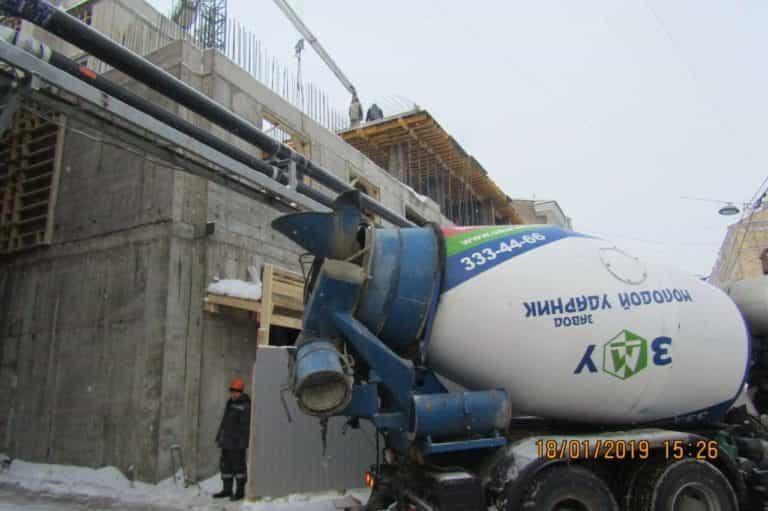 19.01.2019 - Продолжаются работы по бетонированию 6-й секции