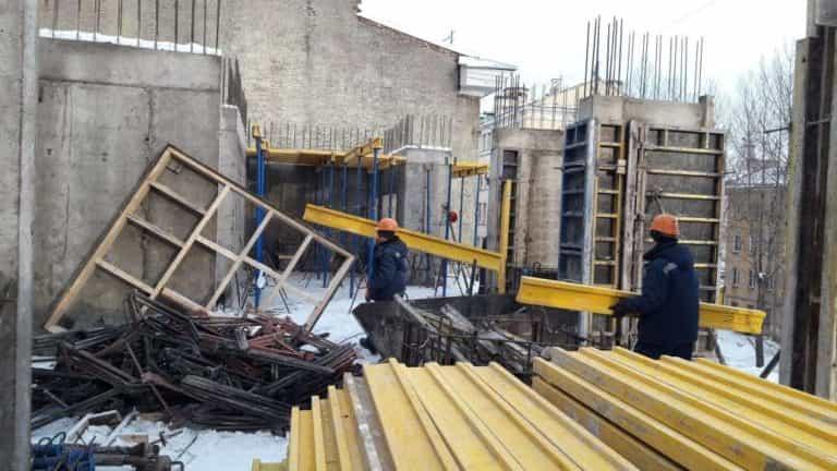14.01.2019 - Армирование стен 3-го этажа 6-й секции