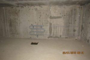 Монтаж трубной обвязкой в подземной стоянке. ЖК Днепропетровская 37