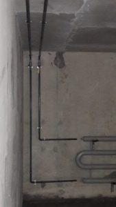Смонтирована система отопления паркинга