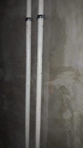 Смонтированы стояки отопления 1,2,3,4 секций