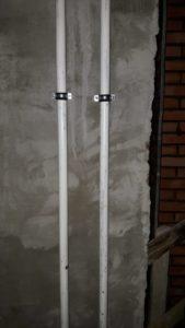 Ведутся работы по прокладке стояков отопления 5 секции