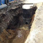 ведутся работы по прокладке канализации