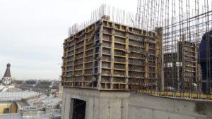 армирование и заливка стен 7-го этажа 6-й секции