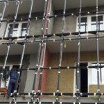 Ведутся отделочные работы на балконах.