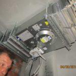 Проводятся испытания установленного вентиляционного оборудования