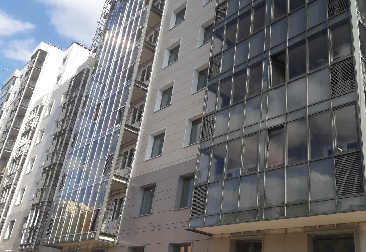 Внутренний двор ЖК Днепропетровская 37